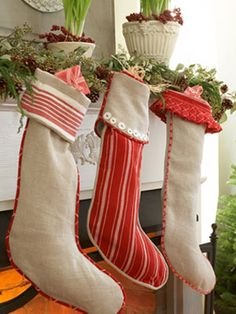 Stockings made from tea towels