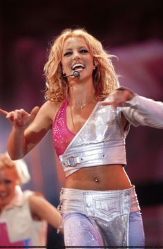 Britney performing in Rock In Rio in 2001.