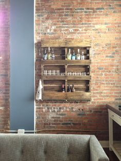Reclaimed pallet wine rack