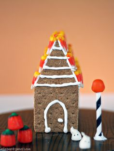 Mini Haunted Gingerbread House for Halloween