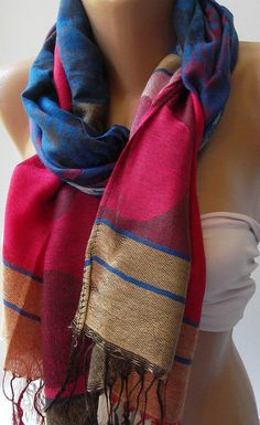 100 % 100 Pashmina   Shawl / Scarf unisex by womann on Etsy, $19.90   I love this