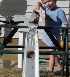 Rain gutter course- Rain, Rain, Come and Play: Backyard Adventures for the Wet Season - ParentMap