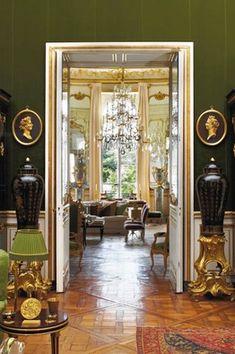 Designer Hubert de Givenchy's Paris apartment,