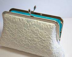 EllenVintage Alencon Lace Silk Clutch Choose your by ellenVintage, $78.00