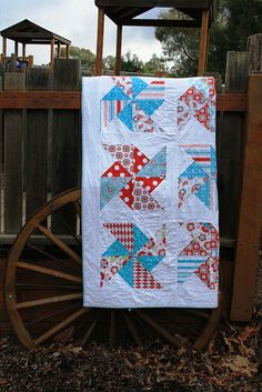 Pinwheels in the park quilt free pattern.