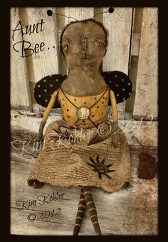 Primitive looking doll.