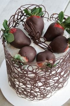 How To: Chocolate Cage Tutorial. How pretty! !