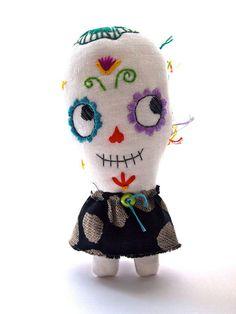 Sugar skull skeleton doll  Knuffels à la carte blog