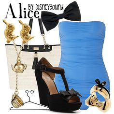 Alice inspired Swimsuit outfit, created by lalakay on Polyvore