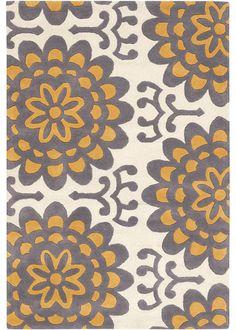 Amy Butler Hand Tufted Wool Rug Wallflower Orange