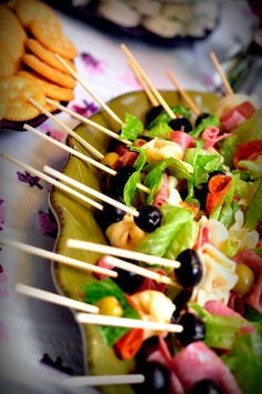 Antipasto Kabobs.    Great party food.