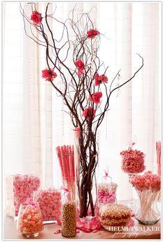 Gorgeous Pink Candy Bar #candy buffet