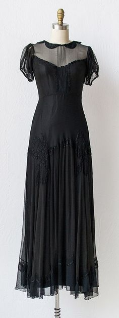 vintage 1930s dress   30s dress