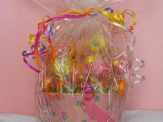 Special occassion cake pop basket.. Classic, flowers and butterflies.  www.cakepopcharm.com