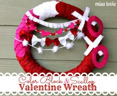 Miss Lovie: Color Block and Scallop Valentine Wreath