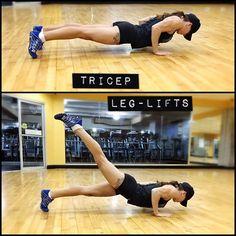 Tricep leg lifts - Full Body Pilates move