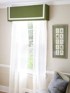 DIY a tailored pelmet for your window to both frame the space and conceal pesky curtain rods.