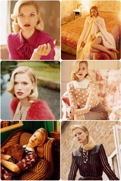 love this modern vintage shoot from Vogue Russia