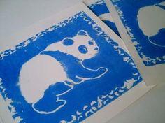 """Druck auf Papier """"Panda"""" von MissOndine / Print on Paper """"Panda"""" by MissOndine"""