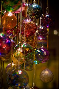 I think #glass #chritmas #ornaments is the best, especially for #reflecting #light!