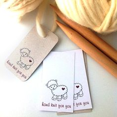 Printable Tags for knitters. PDF file on Etsy