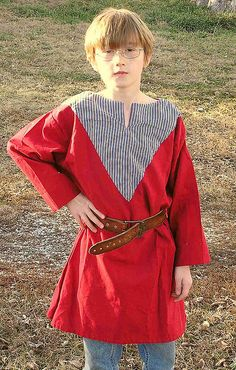Daniel reworked red cotton long sleeved tunic, via Flickr.