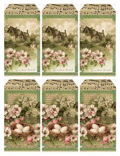Sweet Spring Cottage ~ free printable gift tags