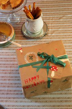 handmade gift wrap.