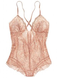 Metallic Lace Teddy