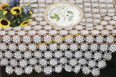 Eyelet Accent Tablecloth - free crochet pattern