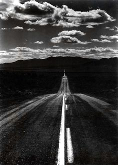 Ansel Adams - Road, Nevada Desert, 1960