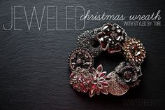 Whipperberry: Jeweled Mini Christmas Wreath with Styled by Tori