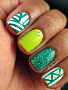 Mismatched Nails Designs 2014