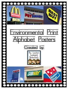 Mrs. Lirette's Learning Detectives: Environmental Print! {Freebies!} environmental print, classroom, school, learn detect, alphabet, prints, detective, lirett learn, environment print