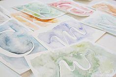 watercolor letters #diy