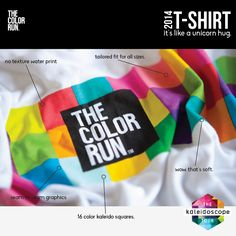 The official Color Runner shirt #2014 #TheColorRun