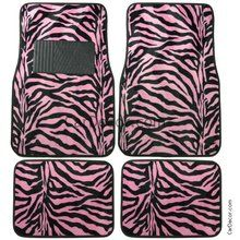 Auto Floor Mats Zebra Pink available at CarDecor.com.