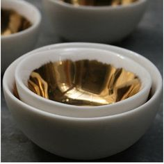 dauville gold brushed bowls
