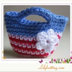 PATTERN – Crocheted Doll Bag/Purse for American Girl Doll « Lilyknitting – Patterns and Crochet