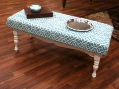 Coffee Table Ottoman -- Upcycling a Flea Market Find
