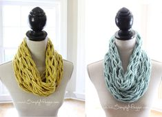 infinity scarfs, wrap infin, singl wrap, 20 minut, infin scarf, arm knit
