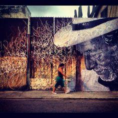 JR + José Parla #Mural in #Havana   #art