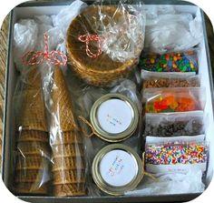 Ice Cream Sundae Gift Kit .. (original source unpinnable)