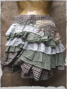 Tweed Ruffles by NaturallyBohemian on Etsy