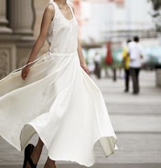 Flax Linen Sleeveless Dress  Custom Listing for 3 by zeniche