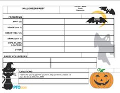 halloween party letter to parents