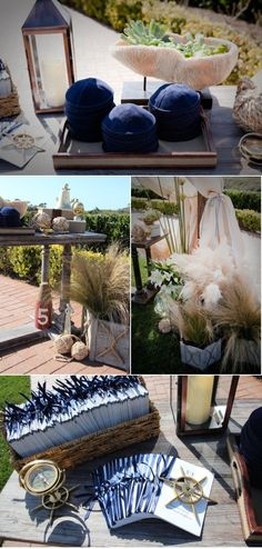 Nautical Themed Wedding. It would be perfect if you were getting married in Maine.