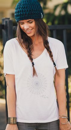 """This flowy v-neck is the perfect yoga, lounge, or casual outfit shirt!! """"Light Up The Sky"""" and help give sight to a blind child when you purchase this give-back-apparel item! #Sevenly"""