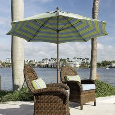This 7.5' Wind Resistant Market Umbrella is designed expressly for high wind areas. Supported by 1 Year Mechanical Warranty and 3 Year Fabric Warranty, it's a great deal for $342.00 sale price.  Product ID : FB-7.5MarketUmbrella #PatioUmbrella