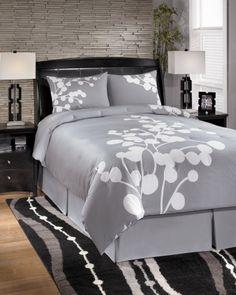 Zela Gray Queen Bedding Set
